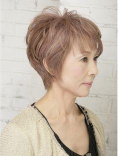 Pin on ショートヘア Haircut For Thick Hair, Pixie Haircut, Hairstyles Over 50, Short Hairstyles For Women, Medium Hair Styles, Short Hair Styles, Love Hair, Short Hair Cuts, New Look
