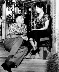 Burt Lancaster and Anna Magnani on the set of The... | Warner Archive Collection