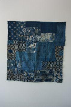 1960's Indigo Japanese Boro Textile