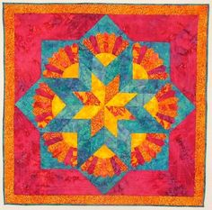 "Springtime Star, 44 x 44"", Virginia Robertson Designs"