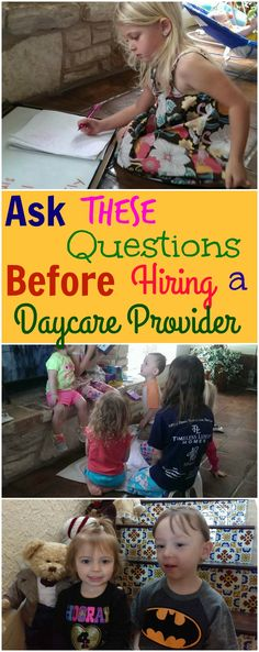 Ask These Questions Before Hiring a Daycare Provider