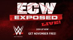 Details for ECW week on WWE Network starting today November 10th 2015 Find out how to be apart of the Live Series @ http://www.wwerumblingrumors.com/2014/11/details-for-ecw-week-on-wwe-network-November-10th-2015.html  #ECWEXPOSED   #WWE   #WRESTLING   #FANS   #SPORTS   #WORLDWRESTLING   #EXTREME   #WWENETWORK   #PAULHEYMAN   #BROCKLESNAR   #DUBAI   #JAPAN   #CHINA   #TEXAS   #DENVER   #NEWYORK   #CHICAGO