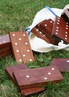 Check out this DIY Outdoor Dominoes Tutorial! We never would have thought about this fun game for the outdoors, and the dark stain really creates a rustic chic feel.