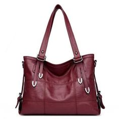 04b8013b99877 Patchwork Women Casual Shoulder Bag Black PU Leather Original Vintage  Stitching Crossbody HandBag. Cloth BagsWoman ClothingMessenger ...