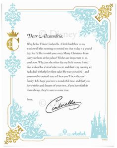 A welcome letter from your child\'s favorite Disney character! Have ...