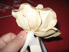 Handmade-kursy ,wzory ,tutoriale: Kwiaty z liści kukurydzy