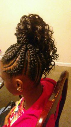 IG:_KelsCreations Little Girls Natural Hairstyles, Little Girl Braid Hairstyles, Teenage Hairstyles, Kids Braided Hairstyles, Box Braids Hairstyles, African Hairstyles, Braids With Curls, Girls Braids, Beautiful Black Hair