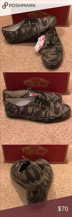 Mono Print Classic Camo Authentic Vans New in box. Vans Shoes Sneakers