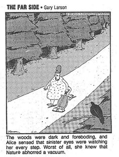 The Far Side. Funny, my kids feel the same way