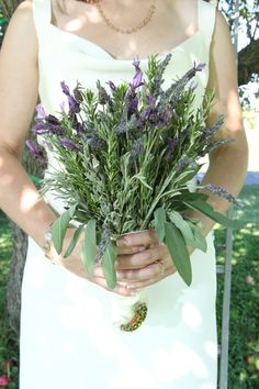 Bouquet: Rosemary, Sage, & Lavender (maybe w/o the floppy sage) Peacock Wedding, Floral Wedding, Wedding Flowers, Wedding Lavender, Lavender Bouquet, Chic Wedding, Our Wedding, Dream Wedding, Wedding Dinner