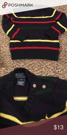 Ralph Lauren sweater size 24 months Excellent condition- washed and never worn- size -24 months - adorable buttons at the collar Polo by Ralph Lauren Shirts & Tops Sweaters