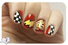 cars mcqueen #nail #nails #nailart