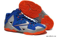 Buy Nike Lebron XI (11) Blue Silver Orange