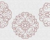 Sewing Craft Room Redwork Machine Embroidery Designs. $5.50, via Etsy.