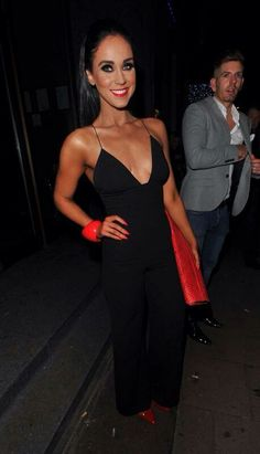 Vicky Pattison from Geordie Shore in Rare London's Black Plunge Jumpsuit! http://www.rarelondon.com/black-strap-back-plunge-jumpsuit.html