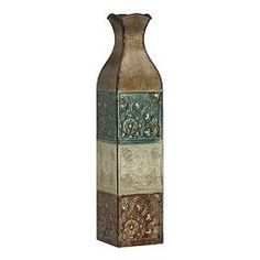 Elements Suzani 24-in. Metal Vase
