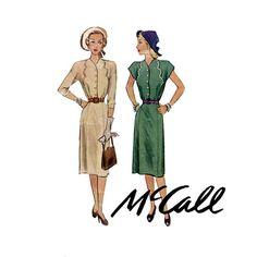 1940s Dress Pattern McCall 6799 Bust 38 Womens by CynicalGirl, $28.00