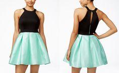 Teeze Me Juniors' Colorblocked Fit & Flare Dress - Juniors Dresses - Macy's