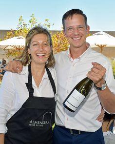 The drivers of Almenkerk wines. Natalie Opstaele and Joris van Almenkerk. Lovely people