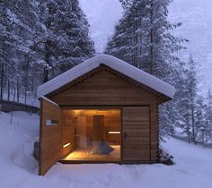 Located in San Vigilio di Marebbe, Italy, the Jagdhaus Tamers is a cozy mountain cabin built entirely of wood. Designed by EM2 Architekten, the cabin has t