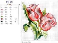 54 Ideas For Embroidery Stitches Flowers Watches Small Cross Stitch, Cross Stitch Cards, Cross Stitch Rose, Cross Stitch Flowers, Counted Cross Stitch Patterns, Cross Stitch Designs, Cross Stitching, Cross Stitch Embroidery, Flower Embroidery Designs
