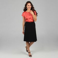 @Overstock - With a flared A-line hem and stretch waistband, this skirt is the timeless basic every closet needs. This skirt features fabric blended designed for just enough stretch to keep you comfortable.   http://www.overstock.com/Clothing-Shoes/Celebrating-Grace-Womens-Black-A-line-Skirt/7530998/product.html?CID=214117 $20.69