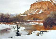 january in abiquiu | watercolor | 14 x 20 SOLD