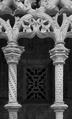 Tracery Royal Cloister, Mosteiro de Batalha, Portugal