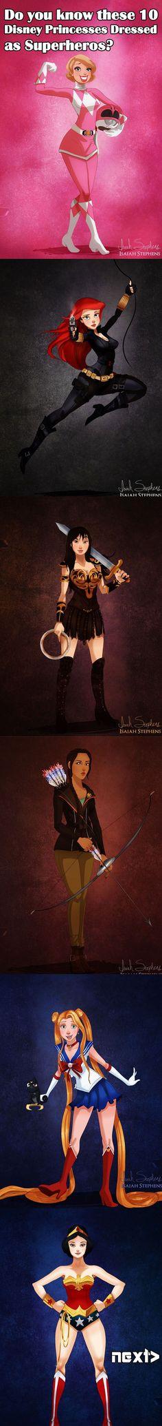Disney Princesses As Superheros
