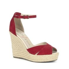 Louanna platform wedge in rust