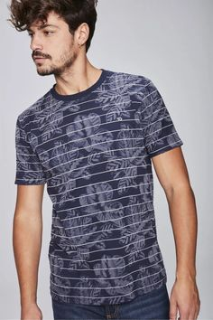 Camiseta-Masculina-Estampada-Frente-- Mix, Look, Mens Tops, T Shirt, Jeans, Floral, Fashion, Knitted T Shirt, Men's T Shirts