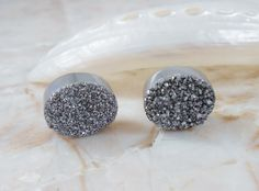 Silver Diamond or Jet Black Tiny/ Petite Agate by IsamarML on Etsy, $21.00