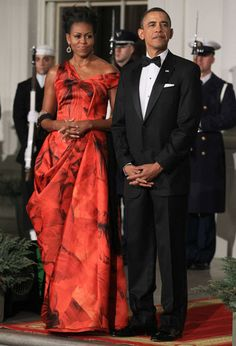 #Michelle #Obama in #Alexander #McQueen. I for one loved it.
