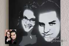 Customizable Couples Portrait Spray Painting Canvas Made to Order Spray Paint Artwork, Spray Paint Colors, Spray Painting, Spray Paint Techniques, Painting Techniques, Photo Proof, Couple Portraits, Unique Gifts, How To Memorize Things