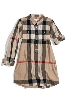 Burberry Check Print Shirtdress. MUST HAVE
