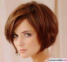 Perçemli Kısa Saç