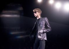 Saint Laurent AW15 Mens Sunglasses Metallic Sequin Jacket
