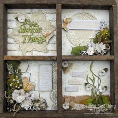 Faith Hope and Love ~Authentique paper along with Petaloo Darjeeling flowers makes this a stunning frame for your home!  Learn how to make one from Petaloo DT member Lynne Forsythe...