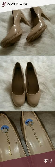 Franco Sarto nude pumps Franco Sarto nude pumps  Some scuffs and also nics in the heels. All areas can be seen in photos. Franco Sarto Shoes Heels