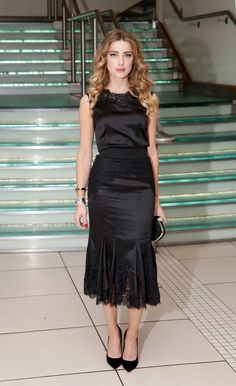 Amber Heard style file: Amber Heard at the London premiere of Black Mass in 2015