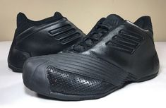 21a7fb47408a 2005 Adidas TMac 1 Black Black Basketball Shoes Men 8.5 Tracy Mcgrady T Mac