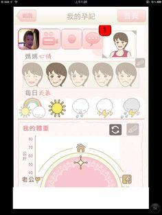 準媽媽寫孕記時,可輸入:    1)圖片、視像、聲音(可聲音日記)  2)選表情(可輸入自已的表情圖)  3)天氣  4)可就這件孕記,跟準爸爸一起留下當下的心情!