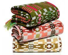 Donna Wilson, Textile Designer's contemporary take on Welsh Blankets Welsh Blanket, Make Do And Mend, Fancy Houses, Textile Fiber Art, Weaving Textiles, Weaving Techniques, Decorating Blogs, Quilting Designs, Textile Design