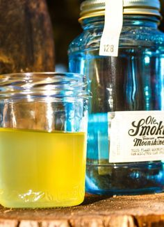 Ole Smoky The MAN Cocktail recipe   Looking for something to start a fire? Our Blue Flame moonshine is guaranteed to light you up!  #drink #recipe #moonshine #fire