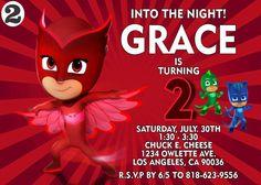 Owlette Pj Masks Birthday Invitation Multiple by SergioDesignsShop