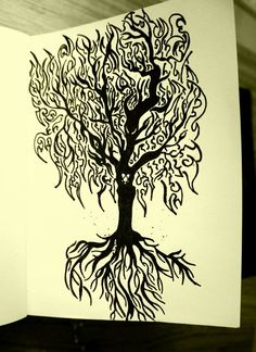 Tree...Chaos...Destruction Doodle art and illustration