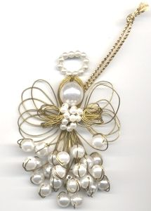 Craft Supplies: Sunshine Discount Crafts: PROJECTS » CHRISTMAS » WIRE & PEARL ANGEL