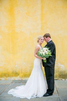 Elegant Gold White William Aiken House Wedding Gown by Essense of Australia