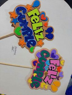 Diy Cake Topper, Cake Toppers, Fiesta Theme Party, Party Time, Origami, Projects To Try, Kawaii, Cute, Bubble Letters
