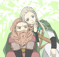 Gimli and Legolas. YAAAAAY! I LOVE THIS!!!!!!! <3 <3 <3 <3